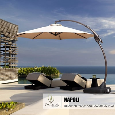 3. Grand Patio Napoli Deluxe Curvy Offset Umbrella-11 FT