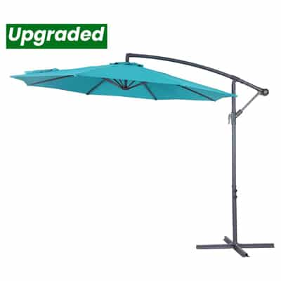 7. Crestlive Products Upgraded 10-ft Patio Offset Cantilever Umbrella
