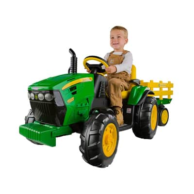 1. Peg Perego John Deere Ground Force Tractor with Trailer