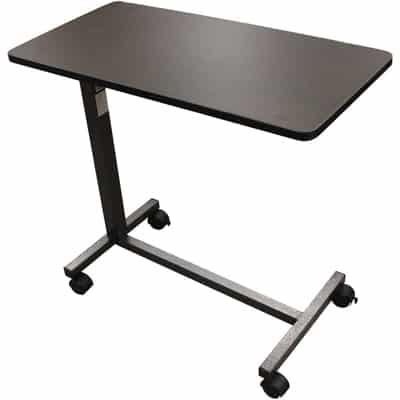 3. Drive Medical Non-Tilt Top Overbed Table, Silver Vein