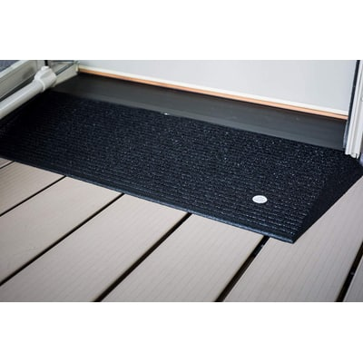 10. EZ-ACCESS TRANSITIONS Rubber Angled Entry Mat