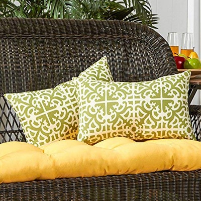 8. Greendale Home Fashions Rectangle Outdoor Accent Pillow