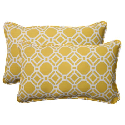 10. Pillow Perfect Outdoor Rossmere Corded Rectangular Throw Pillow