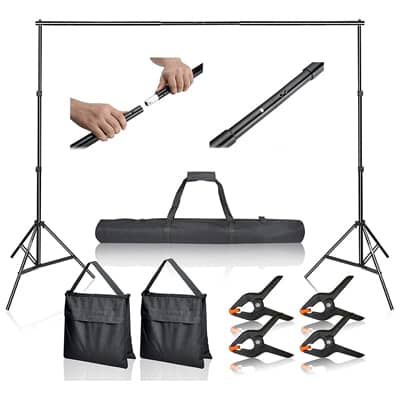 4. Emart Photo Video Studio Background Stand-10Ft Adjustable