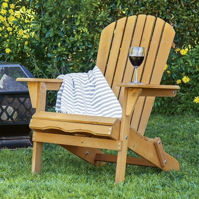 1. Best Choice Products Wood Adirondack Lounger Chair