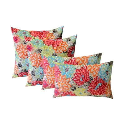 4. Resort Spa Home Set Of 4 Outdoor Throw Pillows