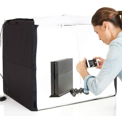 1. AmazonBasics Portable Foldable Photo Studio Box