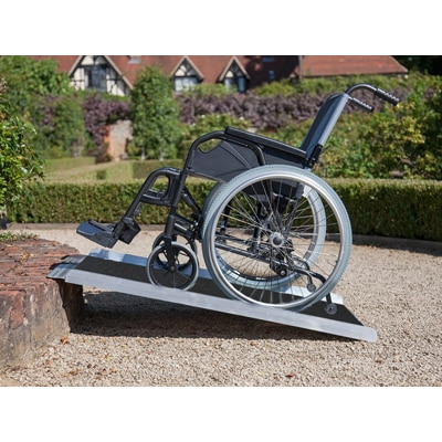12. Clevr Extra Wide Non-Skid Aluminum Wheelchair Loading Traction Ramp