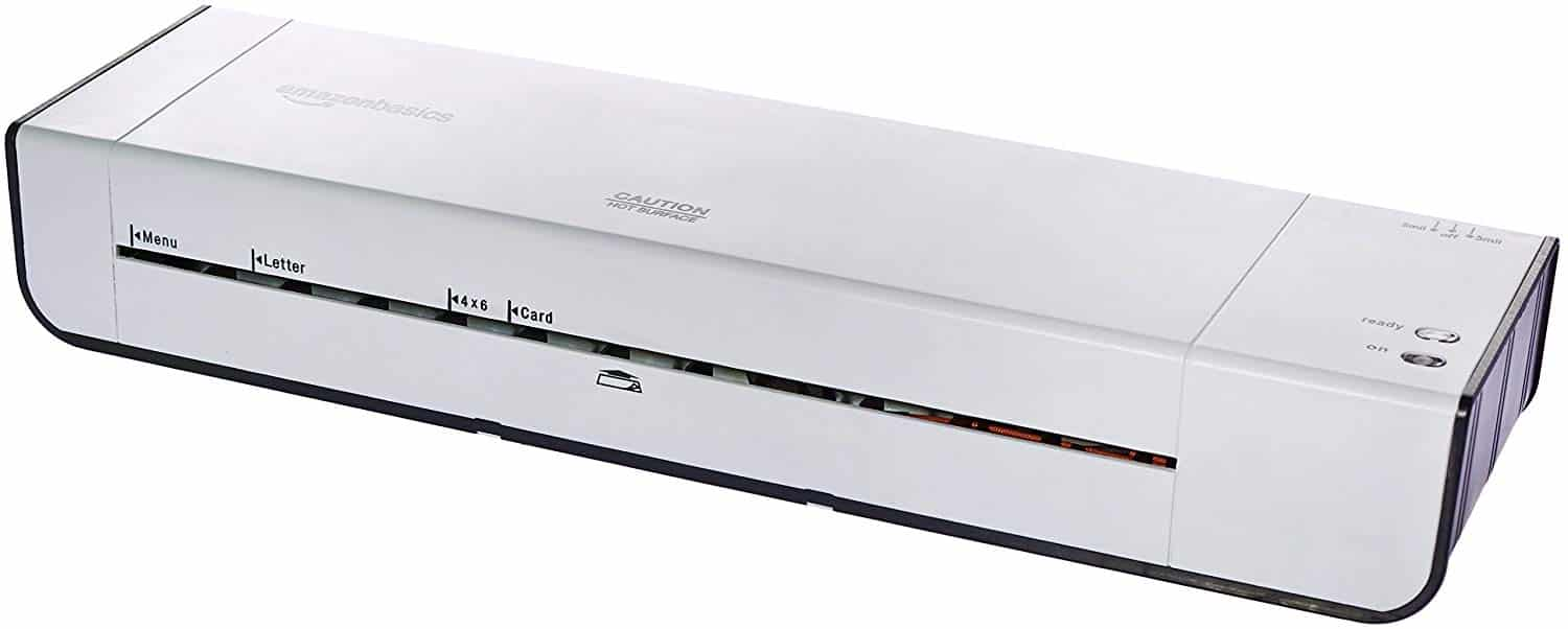 12. Amazon basics 13inch Wide Laminator