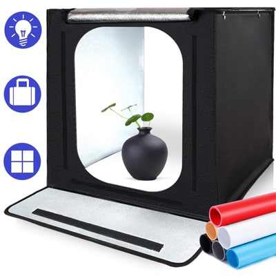 7. SAMTIAN Portable Photography Studio Light Box