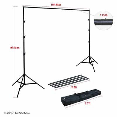 9. Linco Lincostore Photography Photo Backdrop Stand