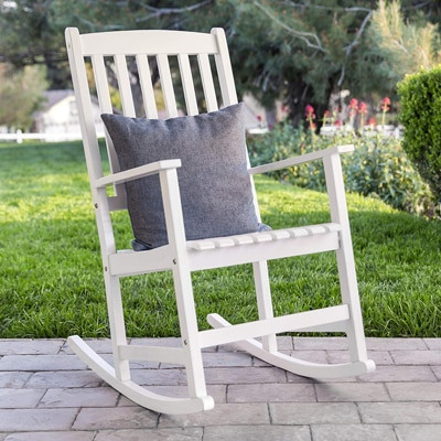 9. Best Choice Products Traditional Wooden Rocking Chair