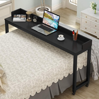 1. Tribesigns Overbed Table with Wheel