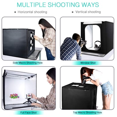 10. FOSITAN 24''x24''x24'' Portable Photo Box