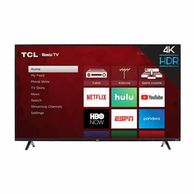 3. TCL 43S425 43-Inch 4K Ultra HD Smart Roku LED TV