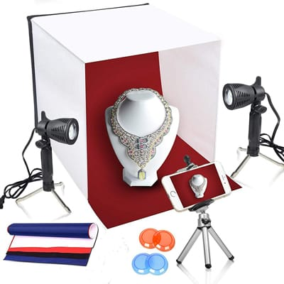 6. Emart 16 x 16 Inch Lighting Photography Box Kit