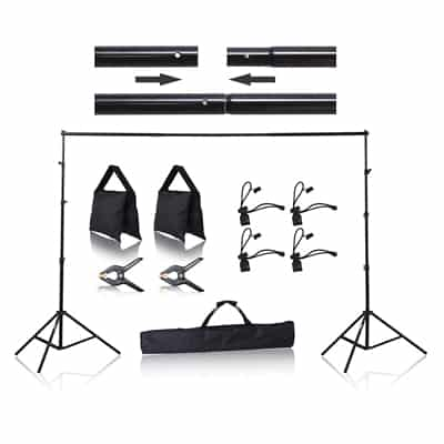 3. Emart Photo Backdrop Stand-8.5 x 10 ft