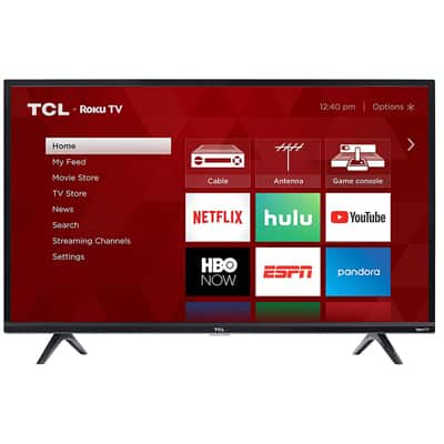 1. TCL 40S325 40-Inch 1080p Smart LED Roku TV