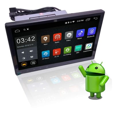 6. YODY 10.1 Inch Single Din Android 9.0 Car Stereo
