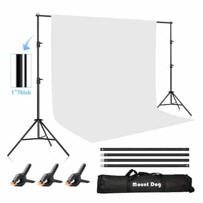 2. MOUNTDOG Photography Backdrop Support System-6.5ftx10ft