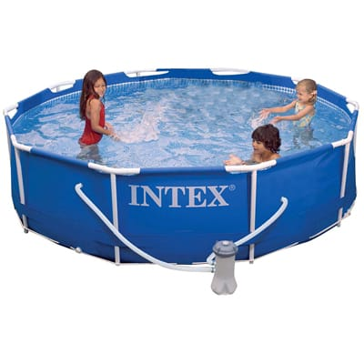 1. Intex Metal Frame Pool Set, 10-Feet x 30-Inch