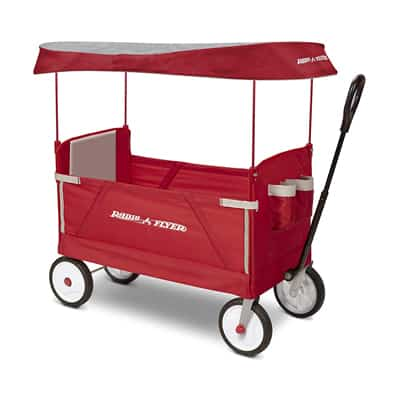 10. Radio Flyer 3-In-1 EZ Folding Wagon with Canopy