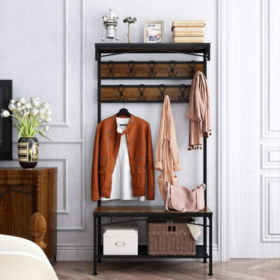 6. Rackaphile 3-in-1 Entryway Coat Rack