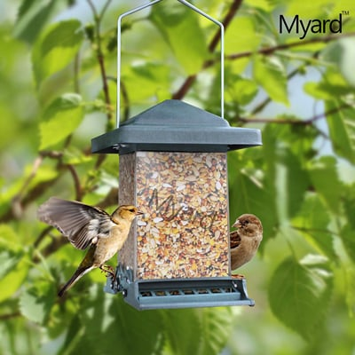 7. Myard MBF 75160-G Double Sided Squirrel Proof Bird Feeder with Weight Adjustable + Extendable Perch