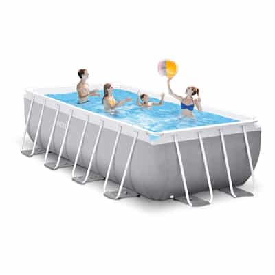 3. Intex 16ft X 8ft X 42in Prism Frame Rectangular Pool Set
