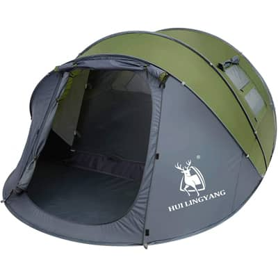 .9 HUI LINGYANG 6 Person Easy Pop Up Tent