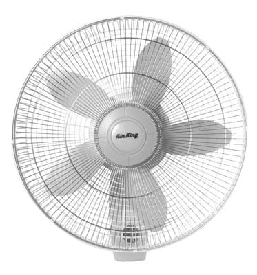 9. Air King 9018 Commercial Grade Oscillating Wall Mount Fan