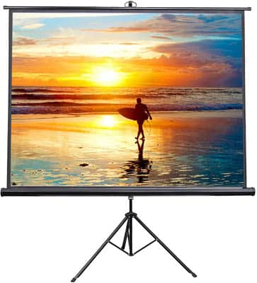 4. VIVO 100-Inch Outdoor Projector Screen with Stand