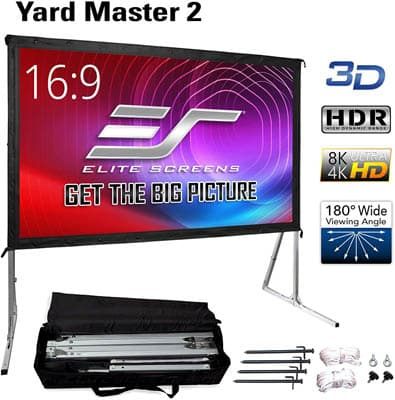 .7 Elite Screens Yard Master 2 Outdoor Projector Screen