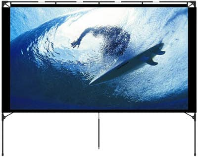 3. Vamvo Outdoor Projector Screen with Stand