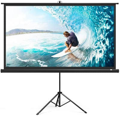 6. TaoTronics Projector Screen with Stand