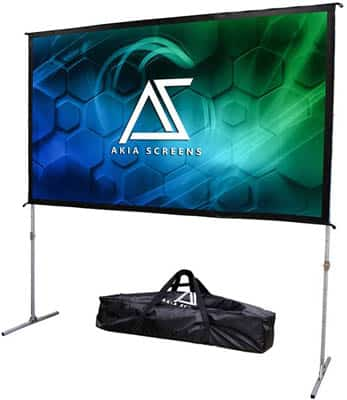 9. Akia Screens Outdoor Projector Screen with Stand