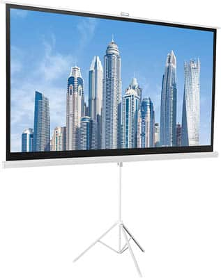 5. AmazonBasics 100-Inch Portable Projector Screen